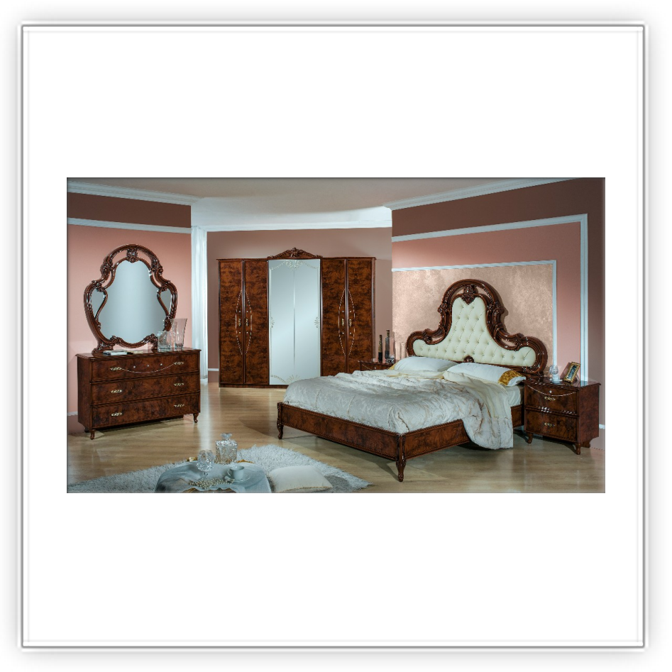 schlafzimmer ginevra noce h2o mobili italiani. Black Bedroom Furniture Sets. Home Design Ideas