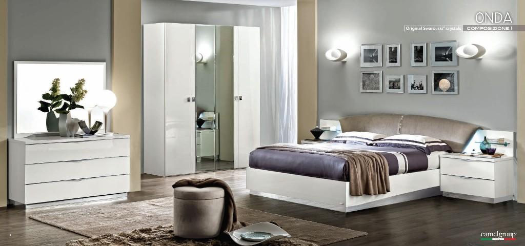 Schlafzimmer Onda Bianca Mobili Italiani Italienische Möbel - Schlafzimmer swarovski