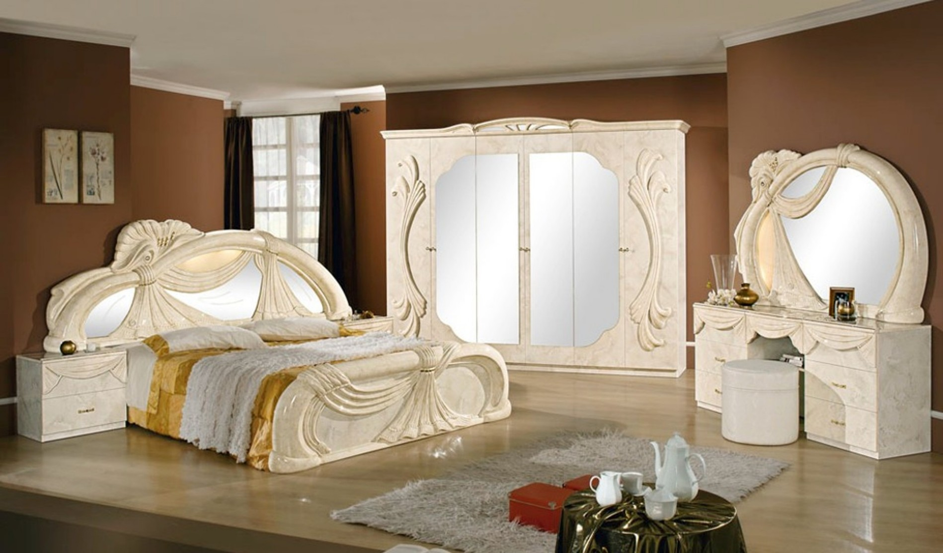 schlafzimmer gina beige marmor h2o. Black Bedroom Furniture Sets. Home Design Ideas