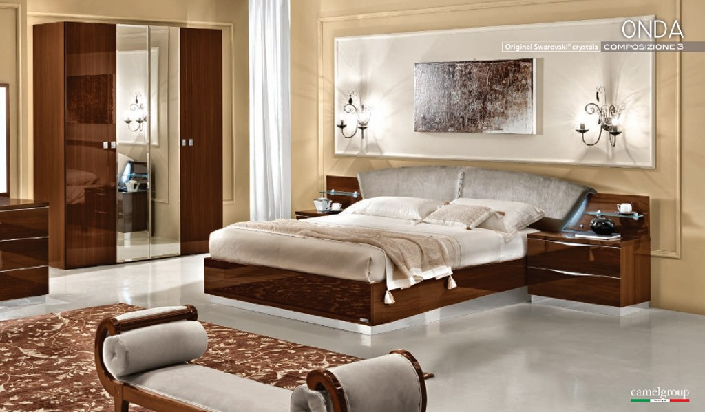 schlafzimmer onda noce italienische m bel mobili italiani paratore. Black Bedroom Furniture Sets. Home Design Ideas