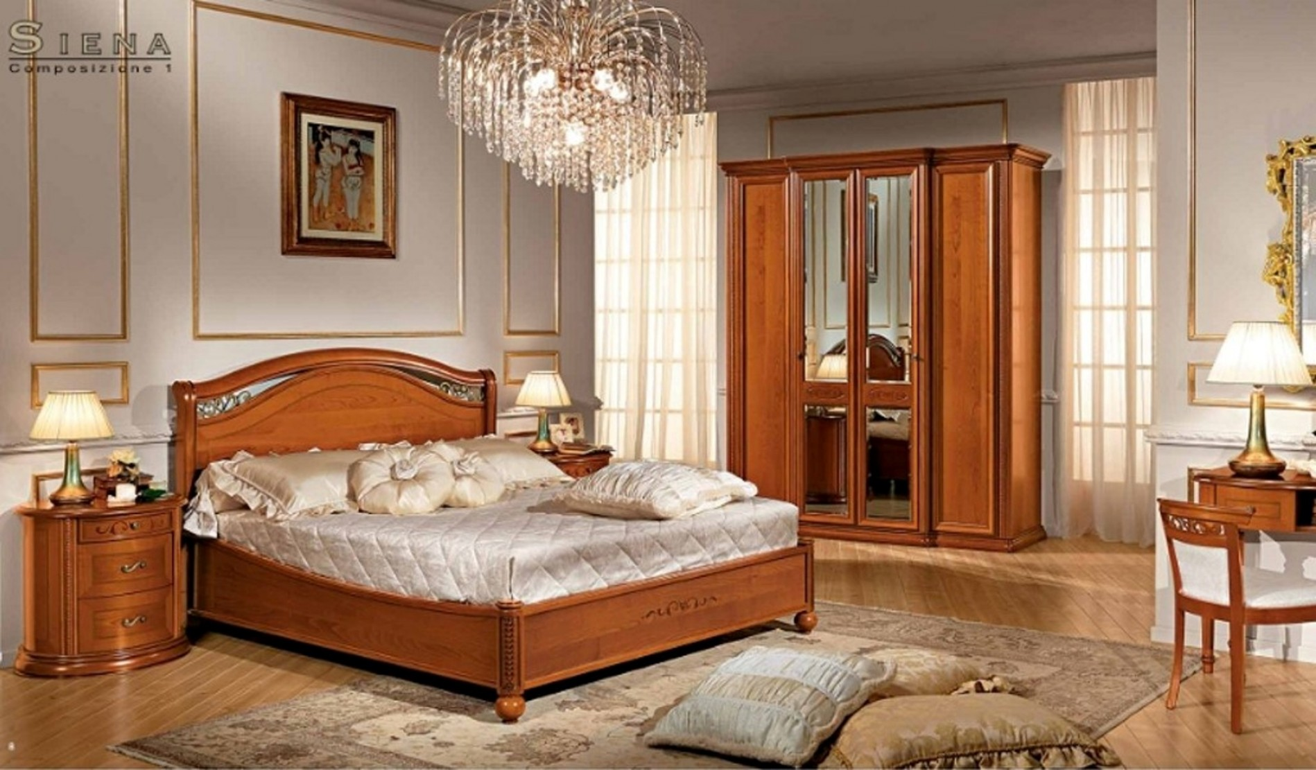 schlafzimmer siena mobili italiani italienische m bel. Black Bedroom Furniture Sets. Home Design Ideas