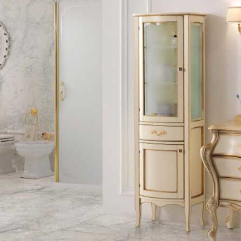 1 Vitrine Luxury Avorio Gold
