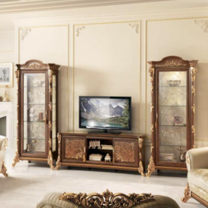 wohnwand klassisch mobili italiani italienische m bel. Black Bedroom Furniture Sets. Home Design Ideas